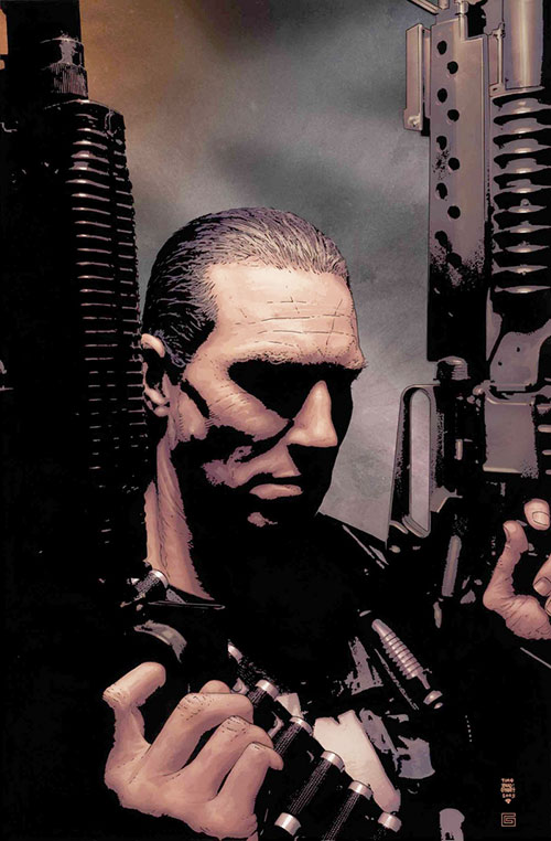 Punisher (Marvel Comics) with paired large guns