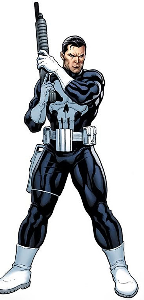 Punisher (Marvel Comics) with a shotgun
