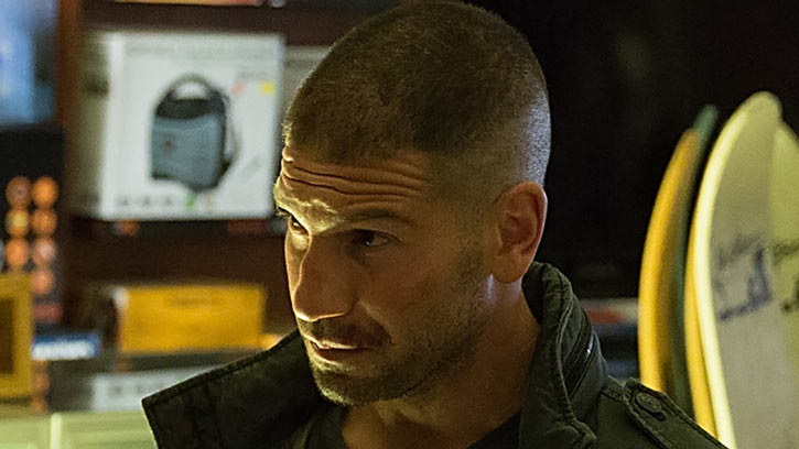 Punisher (Jon Bernthal in Netflix's Daredevil season #2) face closeup