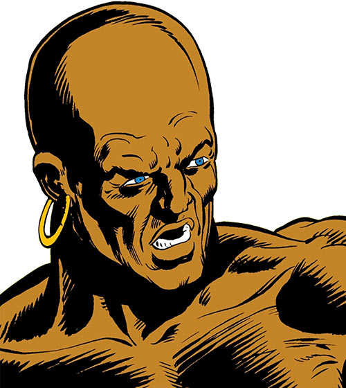 Pusher - Marvel Comics - Ka-Zar enemy - Face closeup