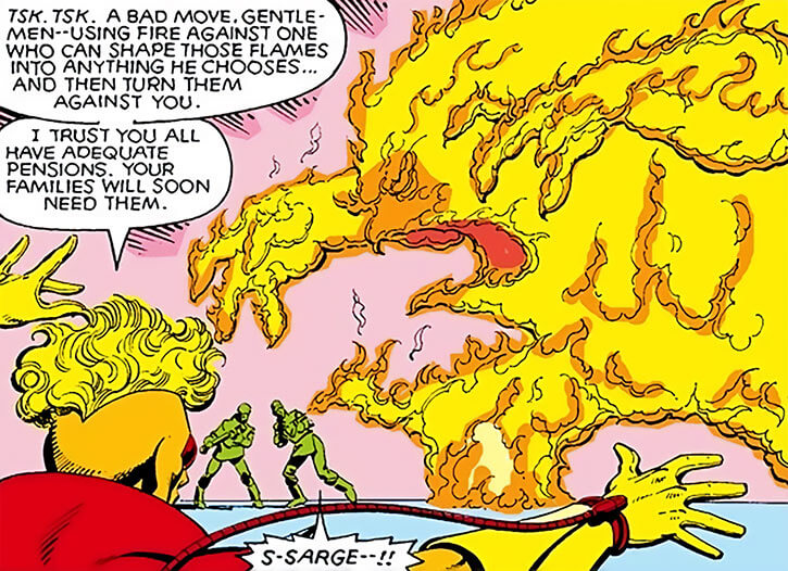 Pyro - Marvel Comics - X-Men mutant enemy - Flame monster