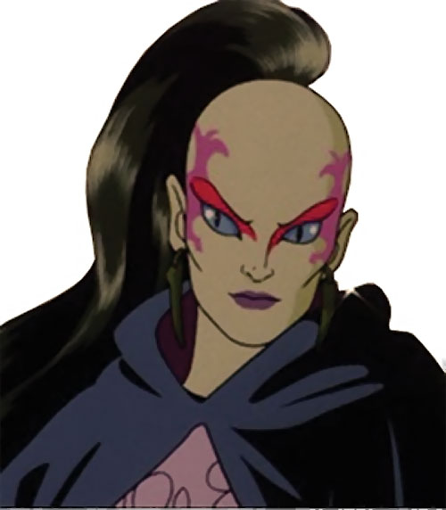 Pythona (1987 G.I. Joe cartoon movie) face closeup