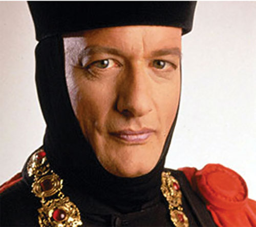 Q (John de Lancie in Star Trek) with black hat