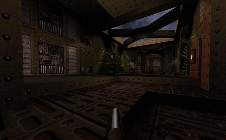 Early level in Quake Dark Places