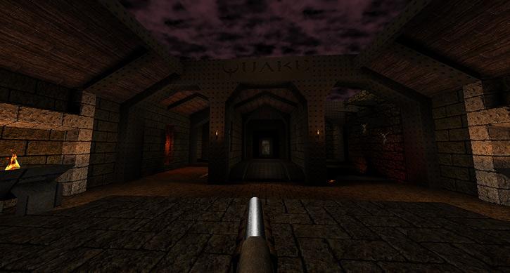 Quake 1 entrance (via Dark Places)