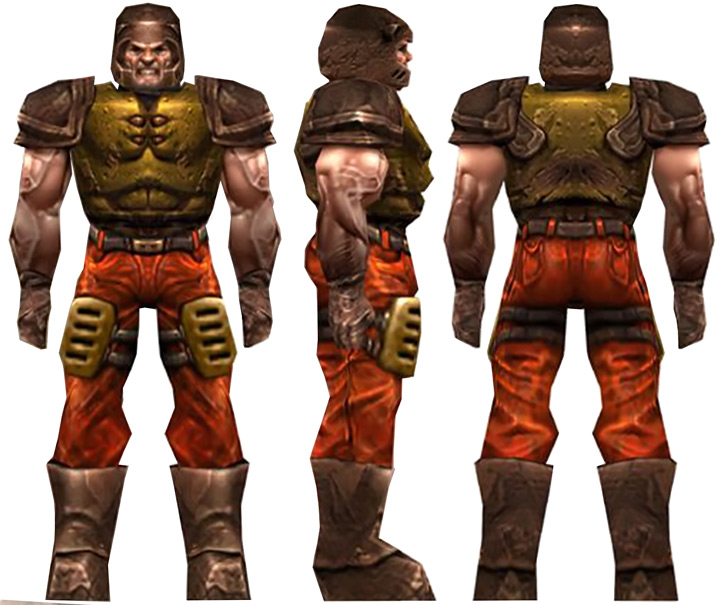 Ranger model in Quake 3, representing the Quake 1 marine