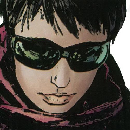 Quake (Daisy Johnson) (Marvel Comics) face closeup with shades