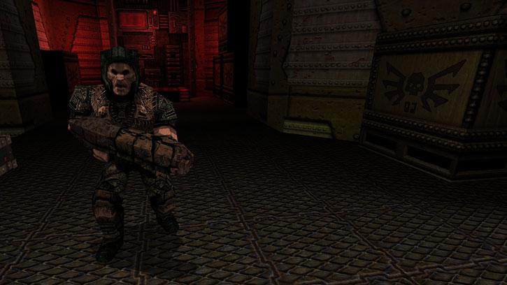 Patrolling Quake grunt (Dark Places)