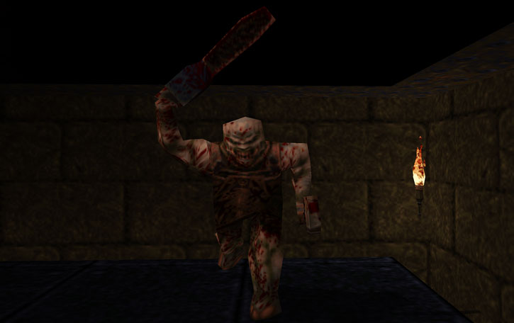 Ogre in Quake, attacking