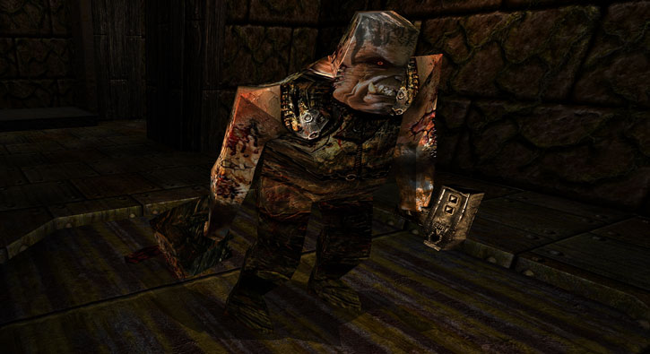 Ogre in Quake (Dark Places version)