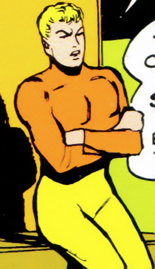 Quanto of the Taurus Gang (Legion of Super-Heroes enemy) (DC Comics) with arms crossed
