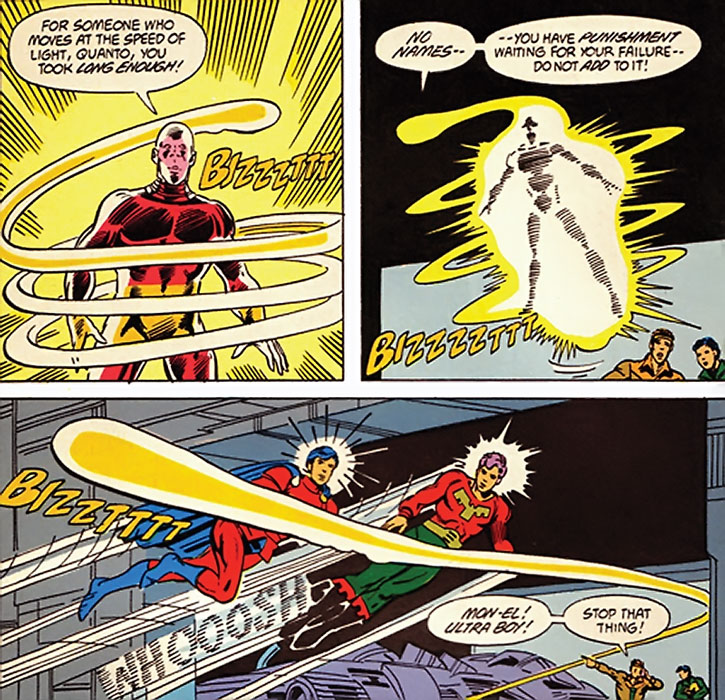 Quanto escapes from the Legion of Super-Heroes