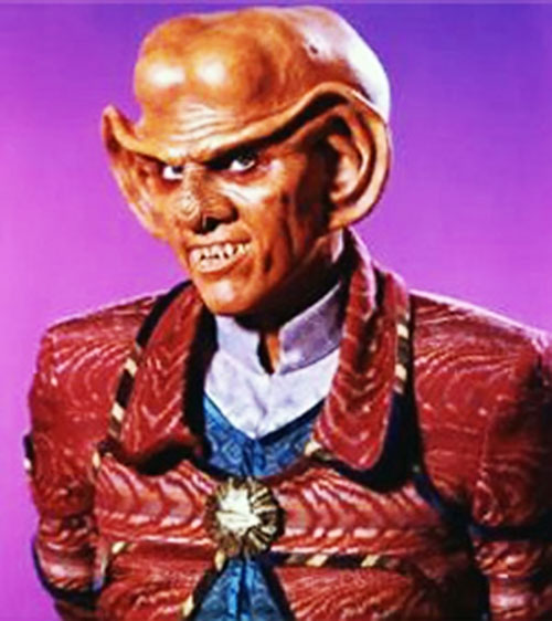 Quark (Armin Shimerman in Star Trek) with a red jacket