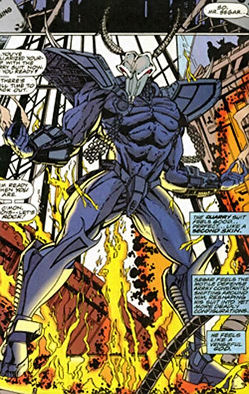 Quarry power armor (War Machine enemy) (Marvel Comics)