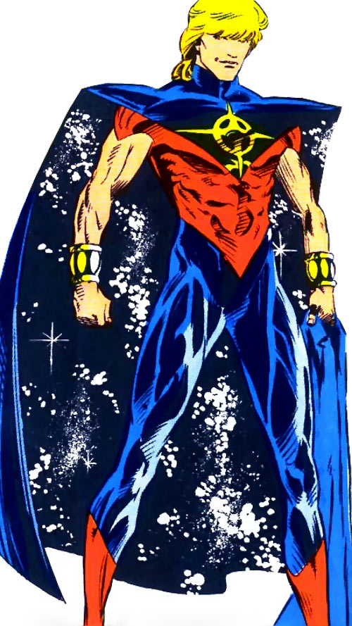 Quasar (Marvel Comics) (Vaughn) (Classic) - thick fringe and starfield cape