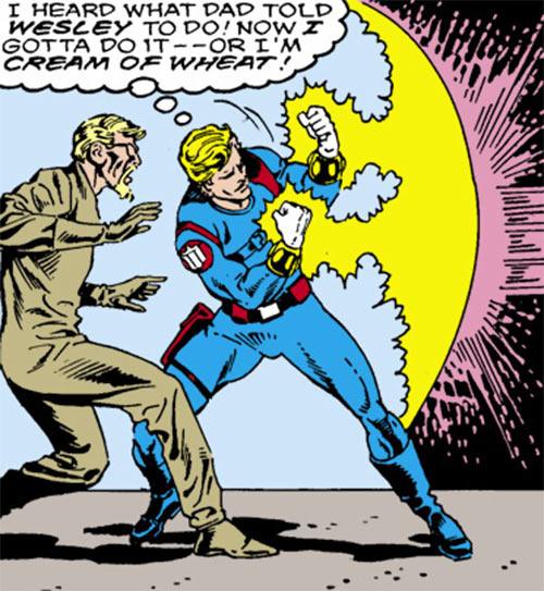Quasar (Marvel Comics) (Vaughn) (Classic) - in his SHIELD uniform with the bands