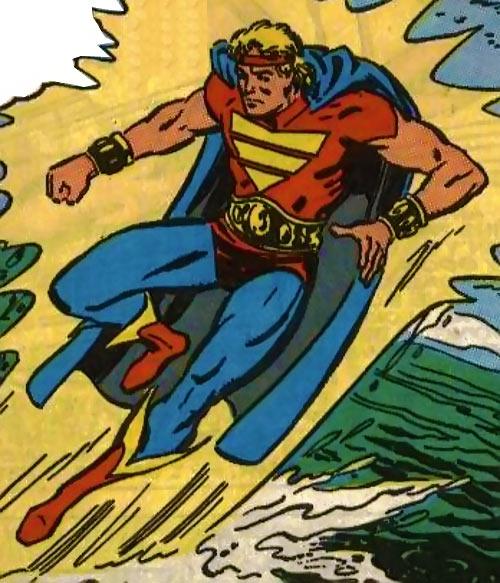 Quasar (Marvel Comics) (Vaughn) (Classic) - flying over the ocean