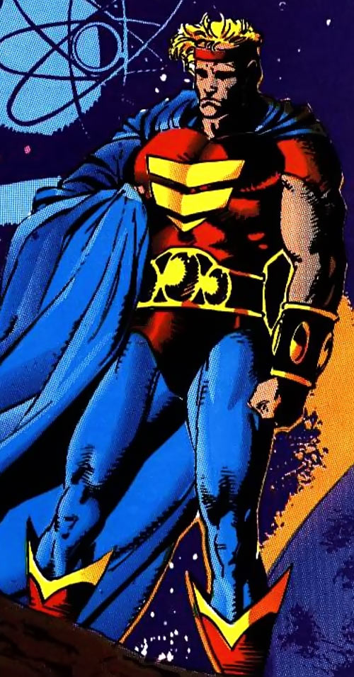 Quasar (Marvel Comics) (Vaughn) (Classic) - sad and shadowed