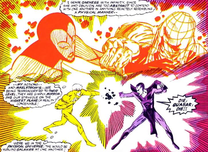 Quasar (Marvel Comics) (Vaughn) (Classic) - with Maelstrom, Infinity and Oblivion