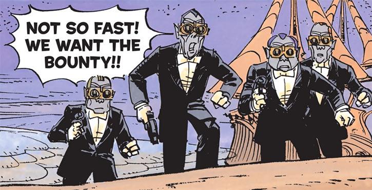 Quatuor Mortis hitmen (Valerian & Laureline) in desert