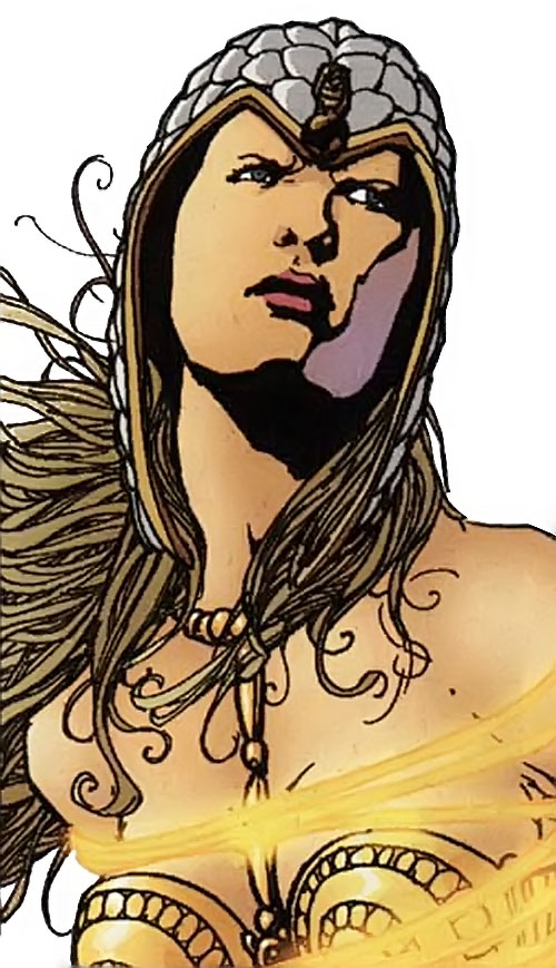 Clea (Wonder Woman enemy) (DC Comics) face closeup