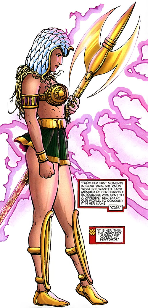 Clea (Wonder Woman enemy) (DC Comics) with the Trident of Poseidon