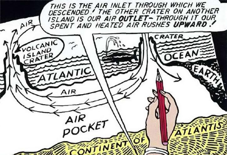 A drawing of Queen Clea's Atlantis