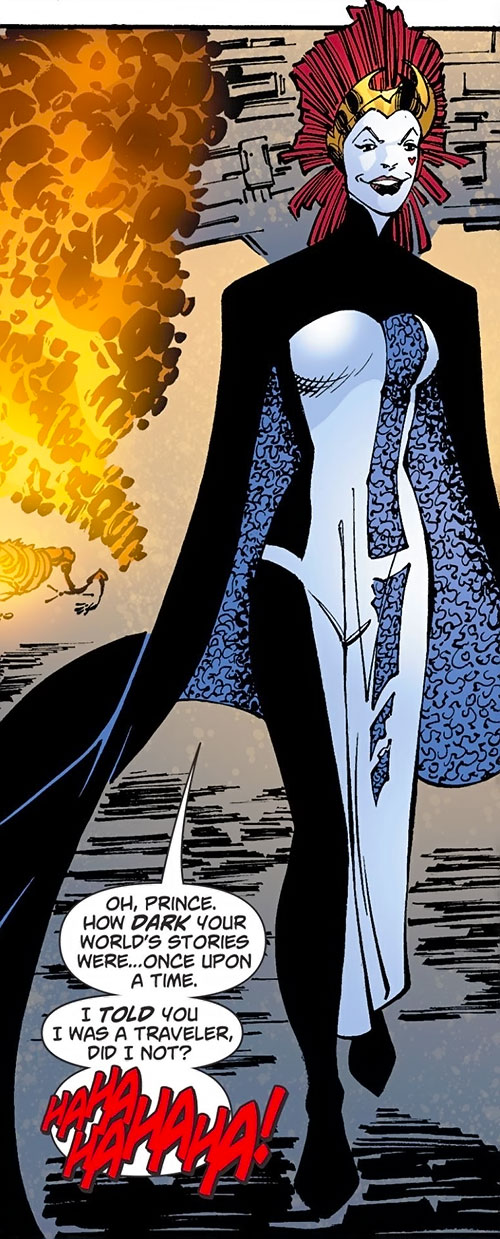 Queen of Fables in Kryptonian garb