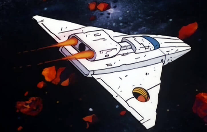 Queen Marlena (1980s Masters of the Universe) Rainbow Explorer spaceship in space