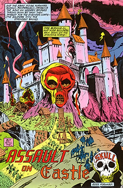 Castle Skull (Wonder Woman location) (DC Comics) under siege