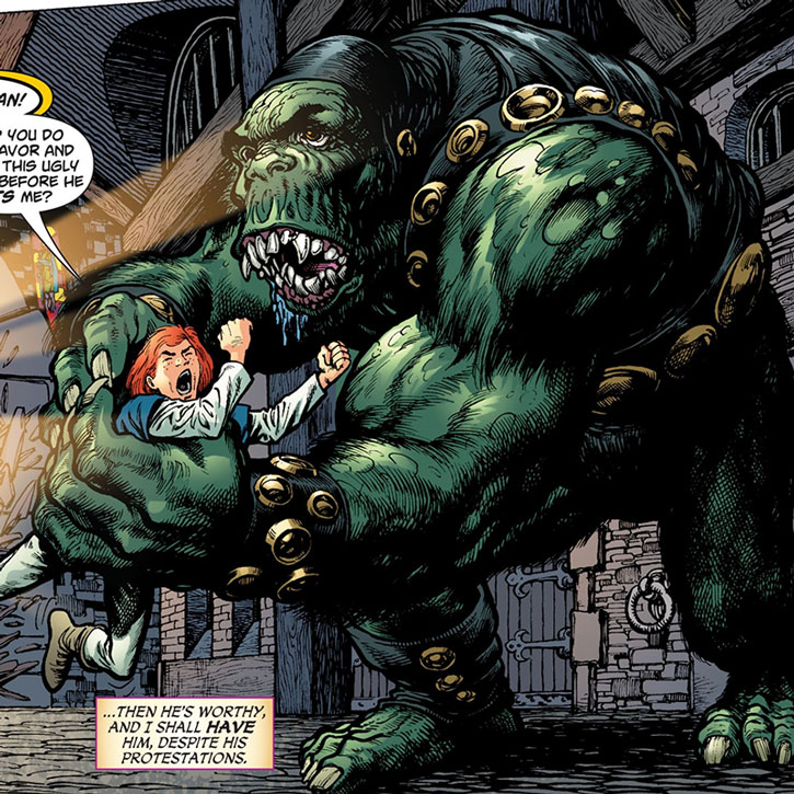The Queen of Fables has a troll catch Jimmy Olsen