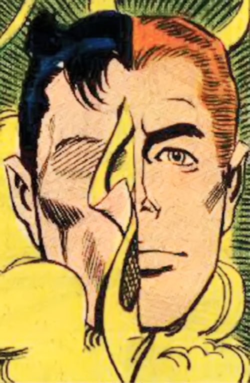 The Question (Ditko take) (Charlton Comics) half-masked