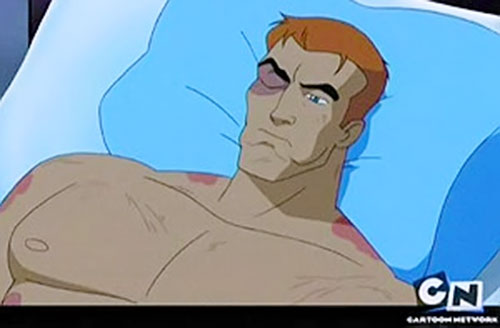 Question of the Justice League Unlimited in the hospital