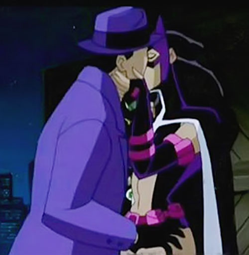 Question and Huntress of the Justice League Unlimited kissing