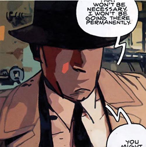 The Question (DC Comics) (Veitch urban shaman version) face closeup
