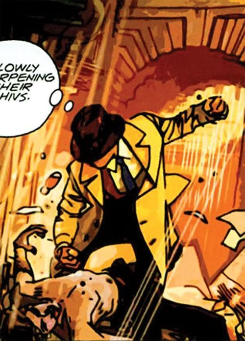 The Question (DC Comics) (Veitch urban shaman version) brawling