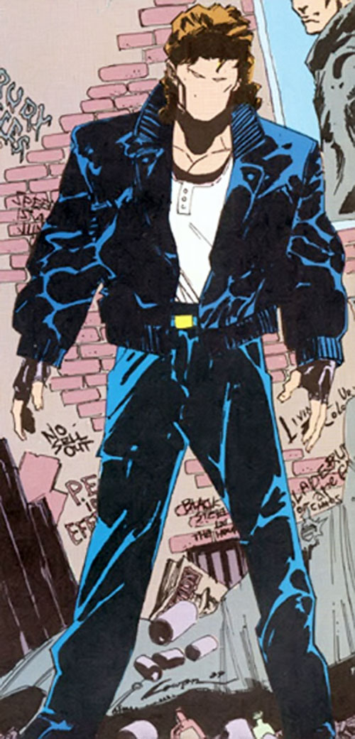The Question (Vic Sage) (DC Comics) in an alley