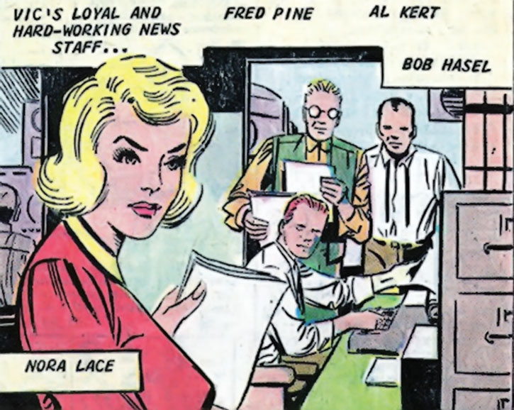 The Question (Vic Sage)'s staff by Steve Ditko