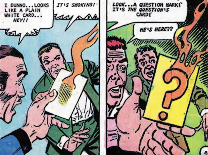 The Question (Vic Sage)'s calling card by Steve Ditko
