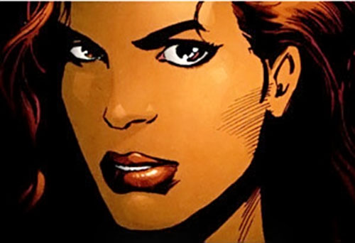 Question (Renee Montoya) (DC Comics) face closeup