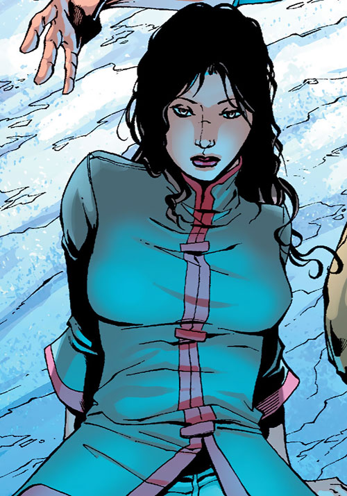 Question (Renee Montoya) (DC Comics) in a Chinese vest