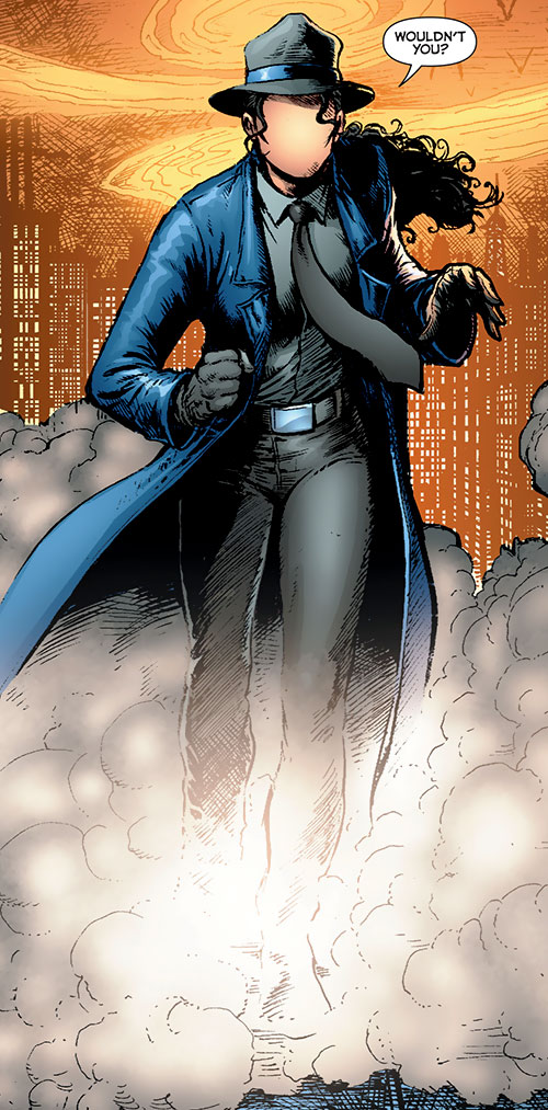 Question (Renee Montoya) (DC Comics) with the fedora and trench coat