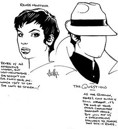 Question (Renee Montoya) (DC Comics) character design by Cully Hamner 1/4