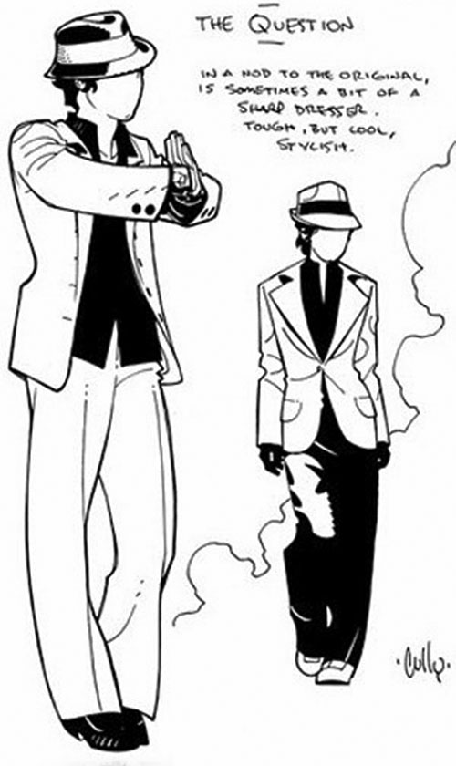 Question (Renee Montoya) (DC Comics) character design by Cully Hamner 3/4