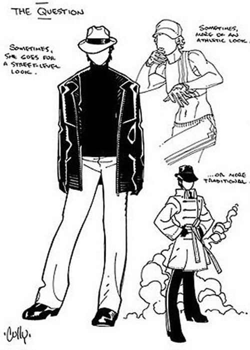 Question (Renee Montoya) (DC Comics) character design by Cully Hamner 2/4