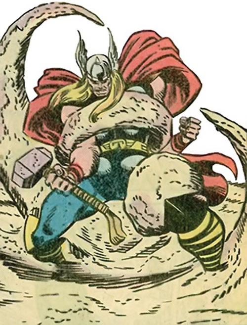 Quicksand (Thor enemy) (Marvel Comics) engulfing the thunder god