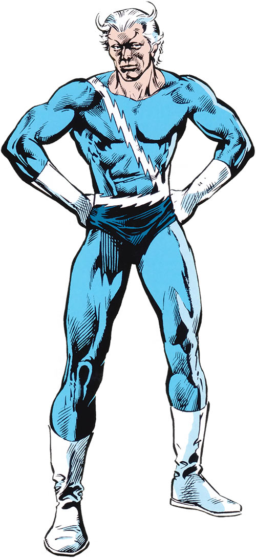 Quicksilver of the Avengers (Marvel Comics 1983 handbook)