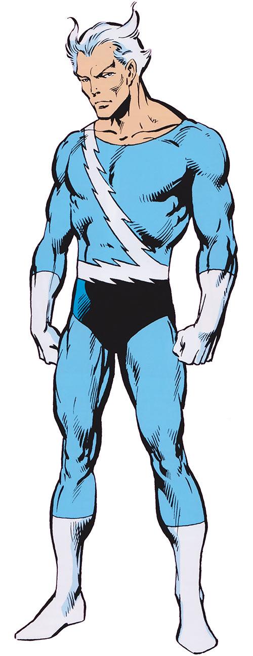 Quicksilver of the Avengers (Marvel Comics 1985 handbook)