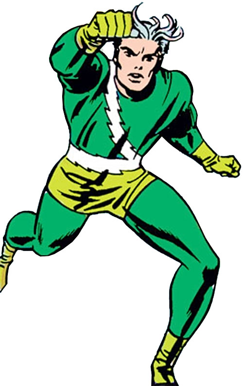 Quicksilver of the Avengers (early Marvel Comics) running