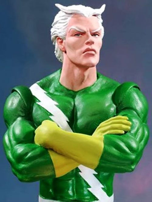Quicksilver of the Avengers (early Marvel Comics) bust sculpture figure